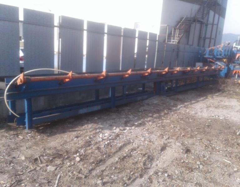 Conveyor 12 m, 500 mm wide, kick-off one side